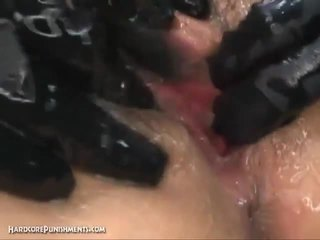 Intense japanese device suspension bondage