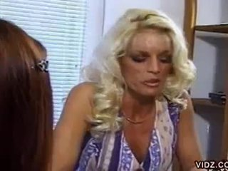 Nikki steele and deva station sucking pussy in hot lesbian video