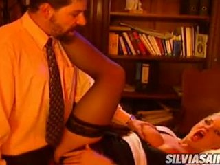 Office Doxy Sylvia Saint Taking A Throbbing Wang In Her Mouth And Loves It
