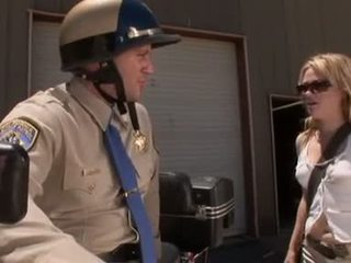 Motorcop fucking her hot pussy hard Video