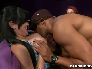 Cute stripper is delighting babes with his acts