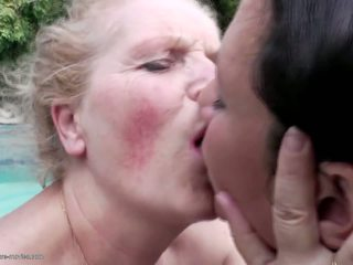 Lesbian Pissing Group Sex with Grannies, Porn 1a
