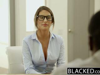 Blacked august ames gets an interracial corrida interna