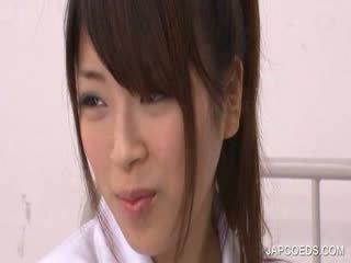 Jap főiskolás lány rubbing quim