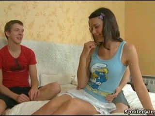 Virgin baben gets lusty examination