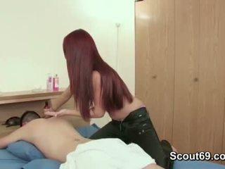 giovane, massaggiatrice, adolescente