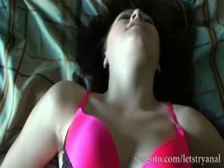 Amateur Alisa Ford first time anal tryout