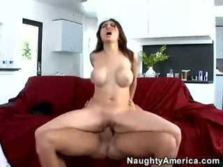 Breasty Adrenalynn Rides On A Long Hard 10 Pounder