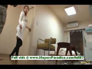 Marika van idol69 verbazingwekkend aziatisch slet bij werk gets haar handen tied
