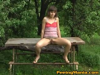 Refined Sweetie Taking The Piss While Onto The Bench