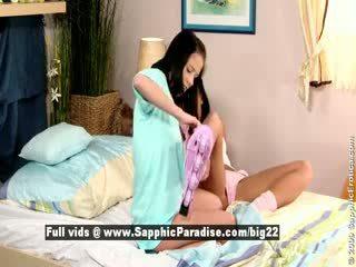 Jess dan dara dari sapphic eroticalesbian gadis licking