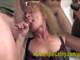 Cathy gets masinis creampies