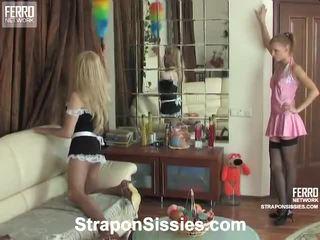 Zusammenstellung von strapon sissies