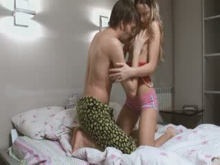 Ultra horny Russian couple making love