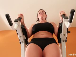 Alison works out her perfect body and pussy