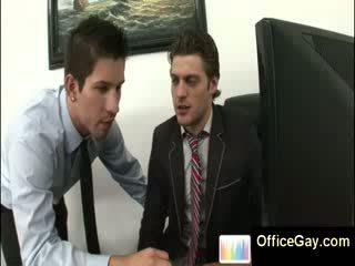 Homo guy tutulan droçit etmek at work on ofis