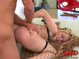 Hawt netted blondie annette schwarz getting pounded en su sugary precioso slit