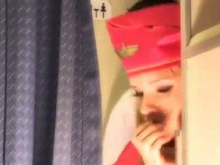 性感 空中小姐 gets 新鮮 精子 aboard