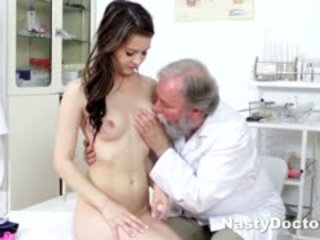 Dirty Old Doc Does Teen Pussy Exam