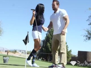 Puremature - audrey bitoni gets un hole-in-one