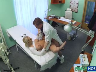 Czech Blonde with Big Boobs wants to be a Nurse