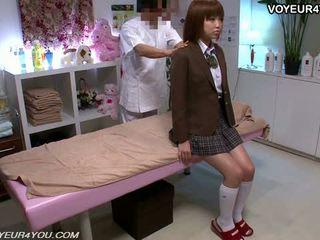 Nhật bản thiếu niên trường học cô gái thân thể massage
