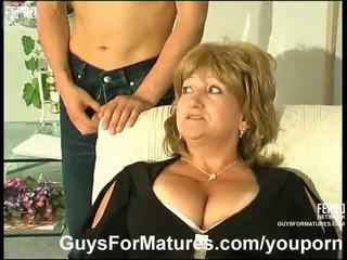 stora tuttar, tysk, mammor och pojkar