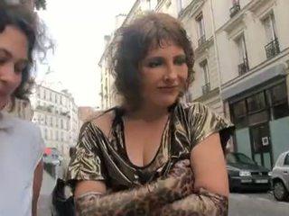 franceză, milf, threesome