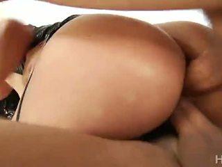 double penetration, cumshot, big ass