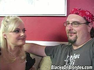 skutečný černý, blondýnka zkontrolovat, hardcore zábava