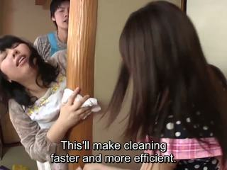 Subtitled japán risky szex -val voluptuous anya -ban