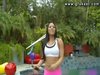Sexy latin adrianna luna là fucked lược qua cô ấy trainer