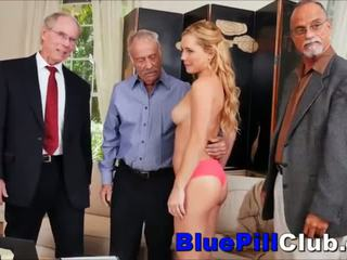 Teen Gangbanged By 3 Old Grandpas