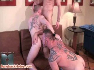 Colin steele, kasey anthony i butch bloom gej trójkąt 5 przez barebackholes