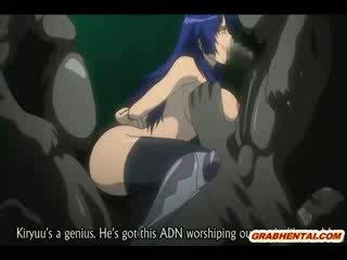 Bondage hentai bigboobed groupfucked door getto monsters anime