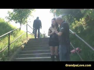 Grandpa fucking nice brunette