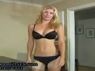 Joi 'don't Blame Me', Great Blonde In Stockings Masturbates And Instructions