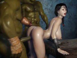 2 geants baisent une jolie fille, miễn phí khiêu dâm 3c