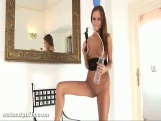 Abby using labia pumpe