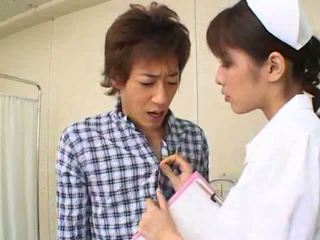 Sexy Hot Asian Japanese Nurse Gives Hot Blowjob To Her Patient