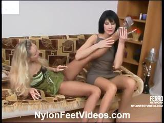fuß-fetisch, strumpf sex, sexy nylon legs and feet