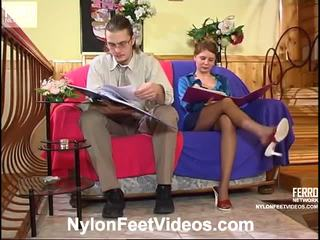 Alice And Mike Hot Nylon Feet Video