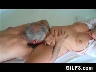 granny, lick, amateur