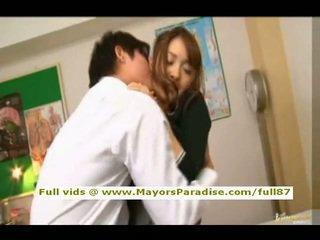 Mihiro van idol69 aziatisch tiener brunette gets licked