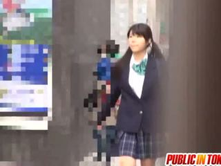 Delicious Japanese Schoolgirl Enjoys S...