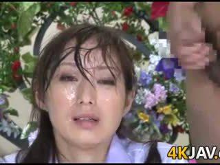 Japonesa notícia anchor bukkake
