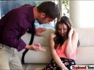 Marota jovem grávida elektra rose throated e pounded forte