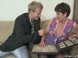 Old woman enjoys nunggang hard jago