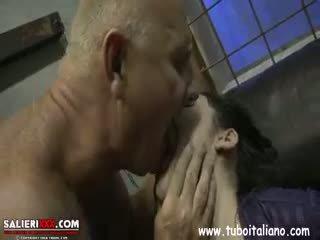 brünett, blowjob
