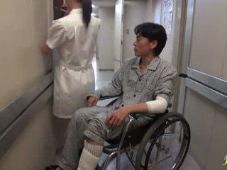 Hikaru ayami den røyking kjempebra kinesisk sykepleier has laget kjærlighet stor